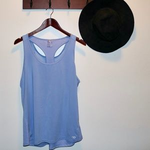 CALIA by Carrie Underwood Tops - Calia | Cut Out Work Out Mesh Tank Periwinkle